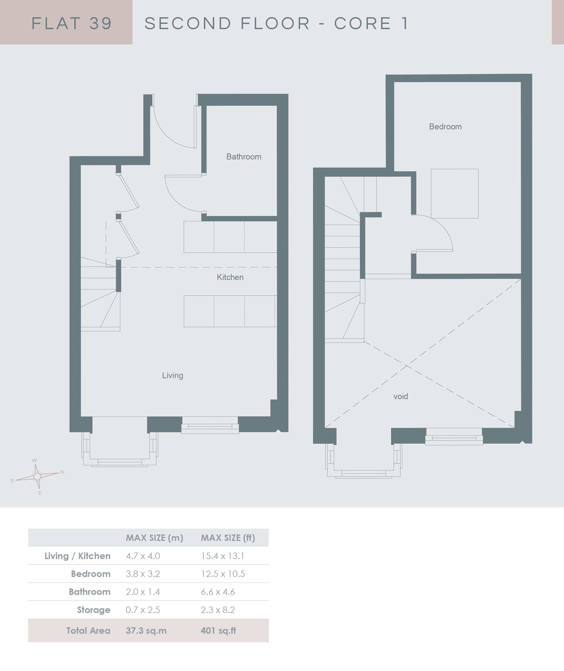 5 x 8 bathroom floor plans - Second Floor Core 1